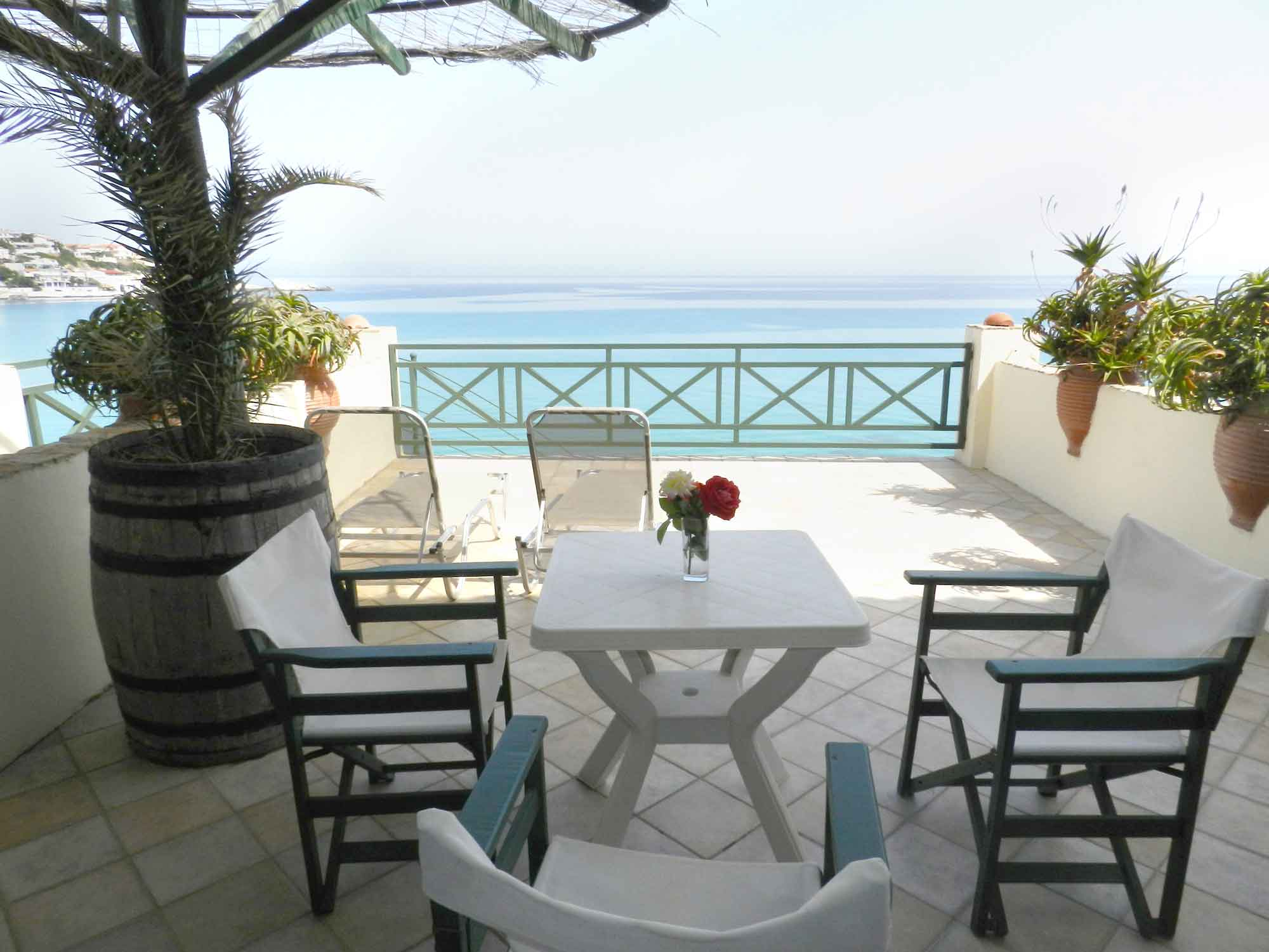 Studio's veranda with sea view